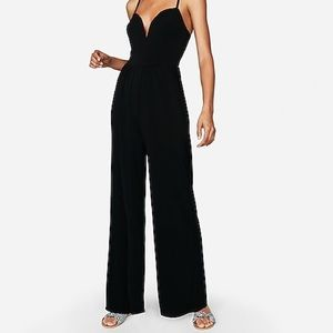 Express Black V-Wire Jumpsuit Size XS